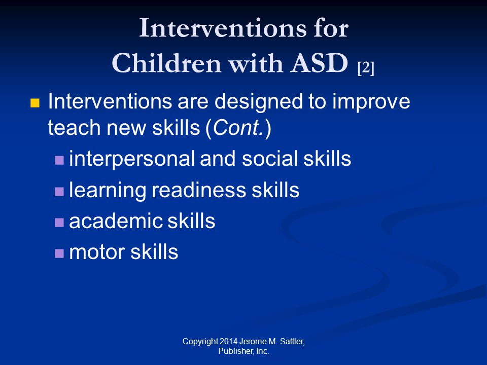 Interventions for Children with ASD [2]